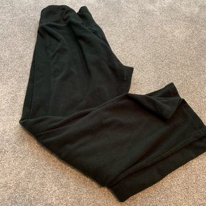 Pants - Large black fleece sweat pants